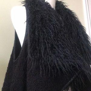 Bohemian Jackets & Coats - Hippie black faux fur vest Bohemian vest